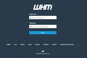 cpanel 11.50 whm login