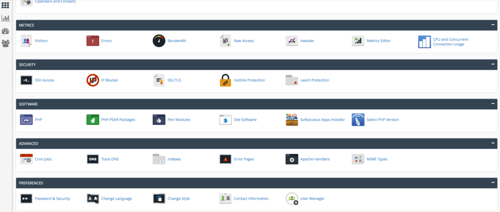 cPanel PHP Selector 1