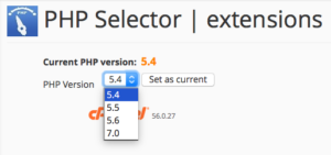 cPanel PHP Selector 2