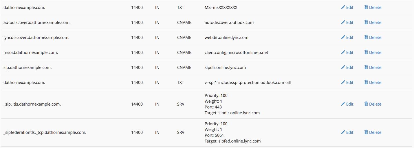 Adding Office 365 DNS Records via WHM or cPanel | Dathorn Blog